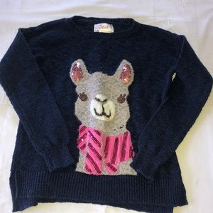 Justice navy blue lama sweater